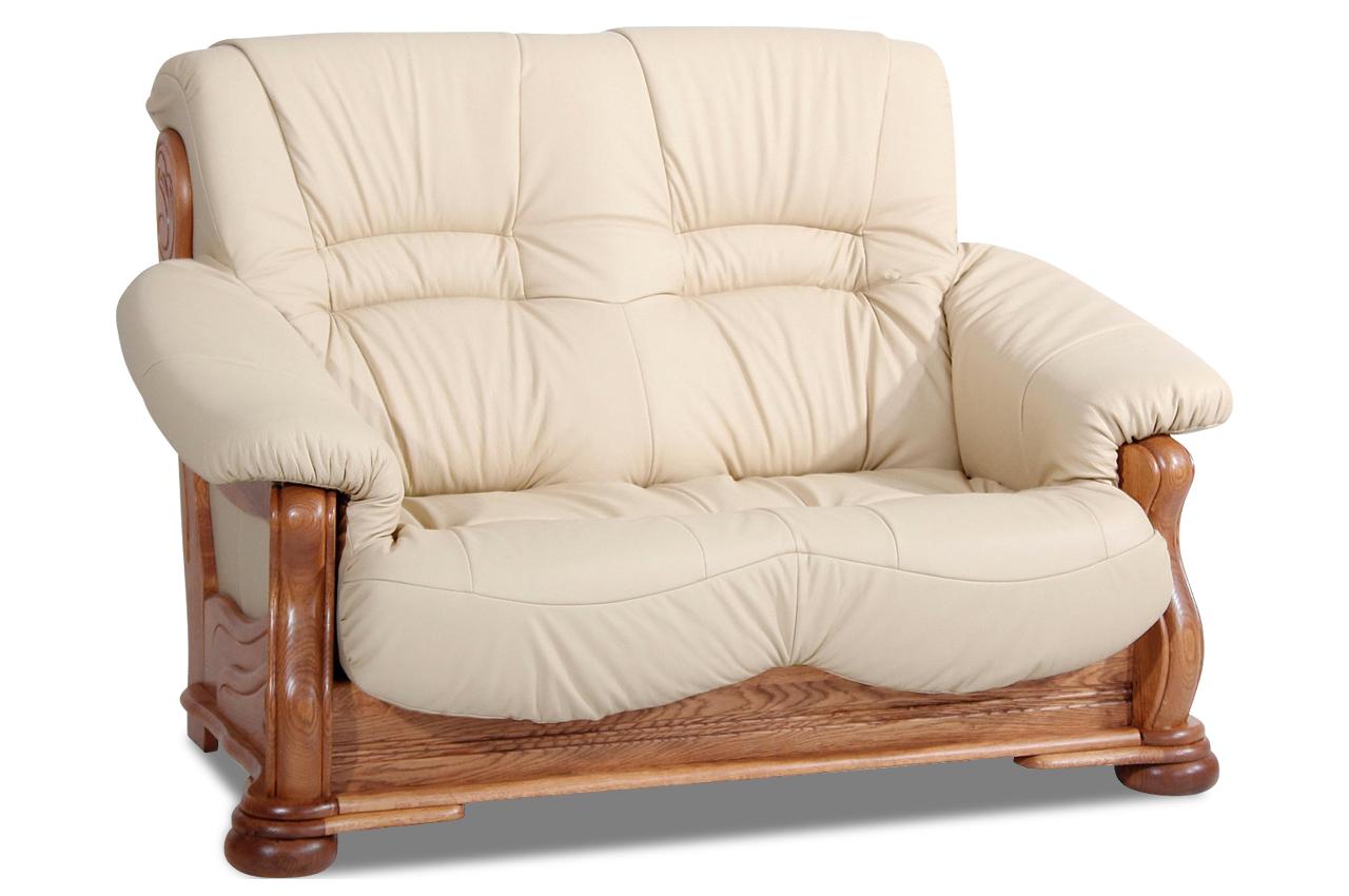 max winzer leder 2er sofa texas creme sofas zum halben. Black Bedroom Furniture Sets. Home Design Ideas