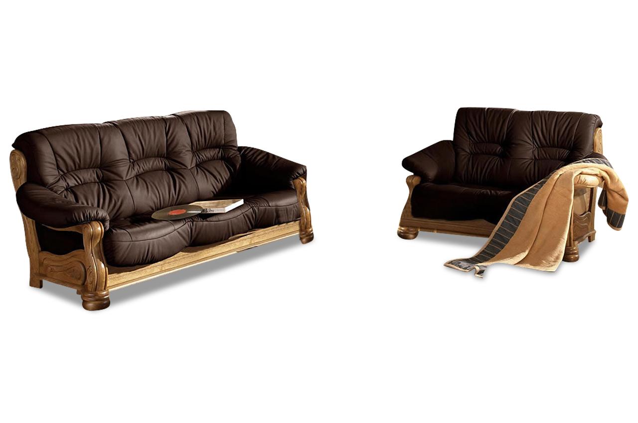 max winzer leder garnitur 3 2 texas braun mit federkern sofas zum halben preis. Black Bedroom Furniture Sets. Home Design Ideas