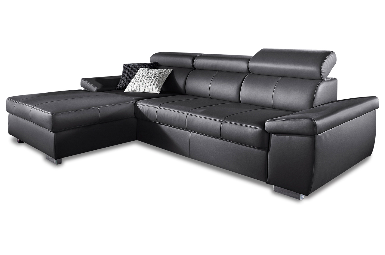 leder ecksofa schwarz sofas zum halben preis. Black Bedroom Furniture Sets. Home Design Ideas