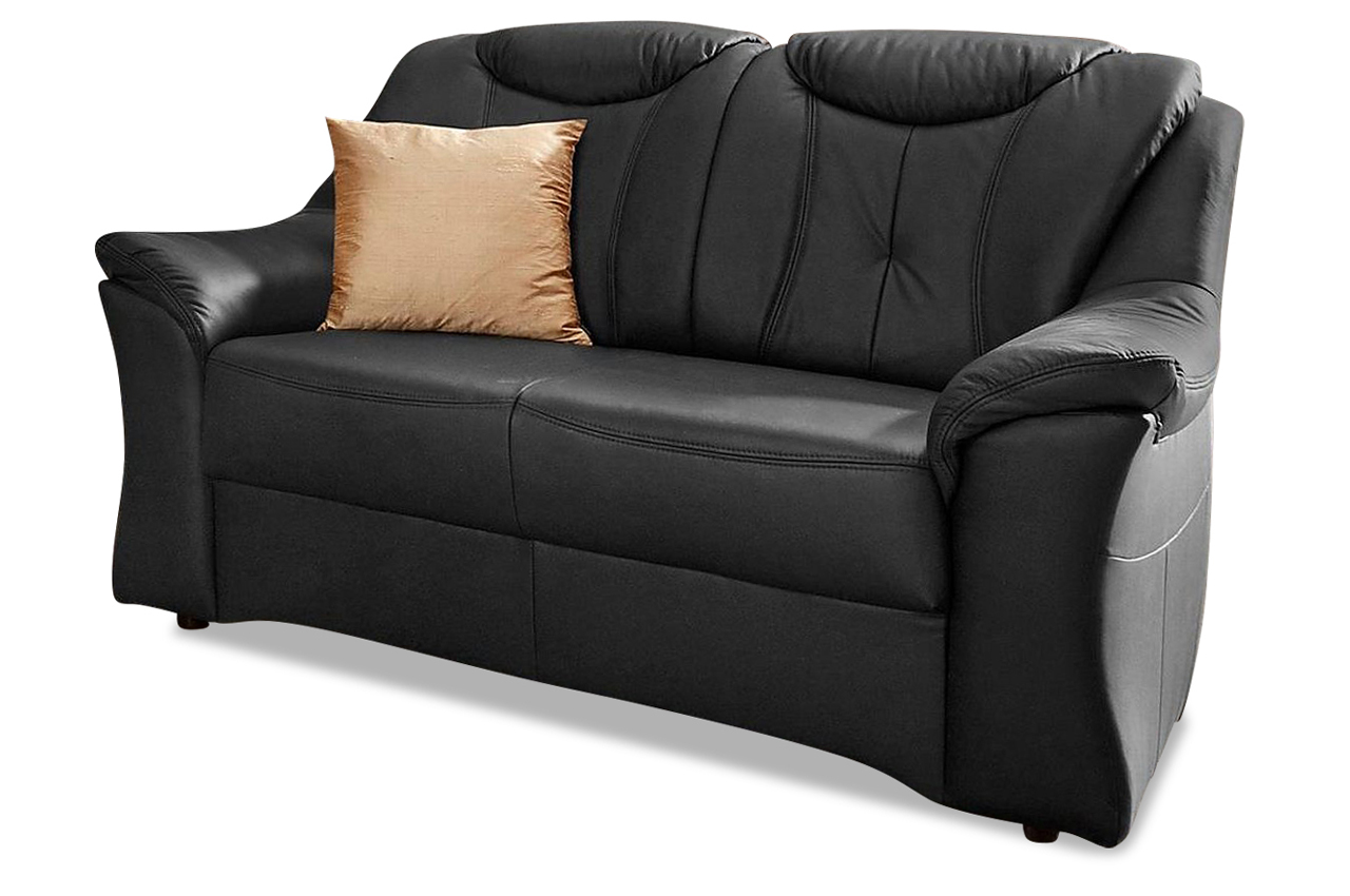 leder 2er sofa schwarz mit federkern sofas zum halben preis. Black Bedroom Furniture Sets. Home Design Ideas