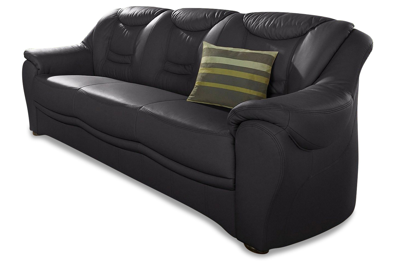 leder 3er sofa bansin creme mit federkern sofas zum halben preis. Black Bedroom Furniture Sets. Home Design Ideas
