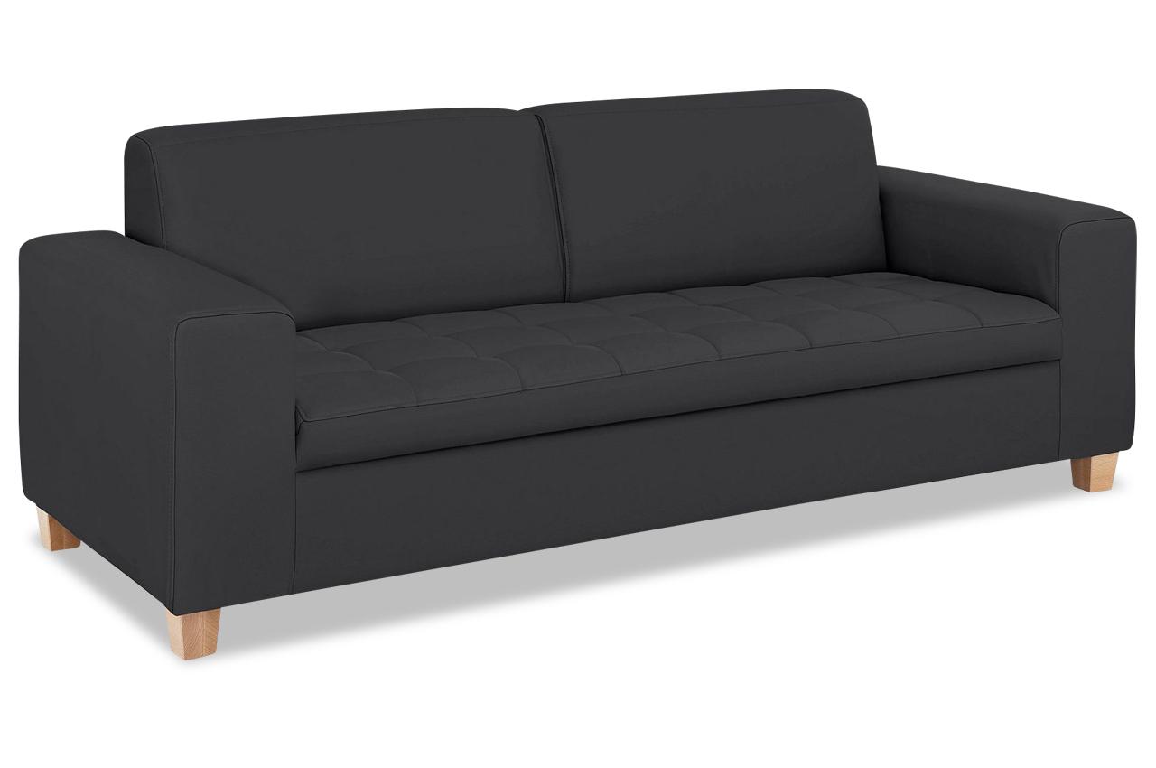 leder 3er sofa sugar schwarz sofas zum halben preis. Black Bedroom Furniture Sets. Home Design Ideas
