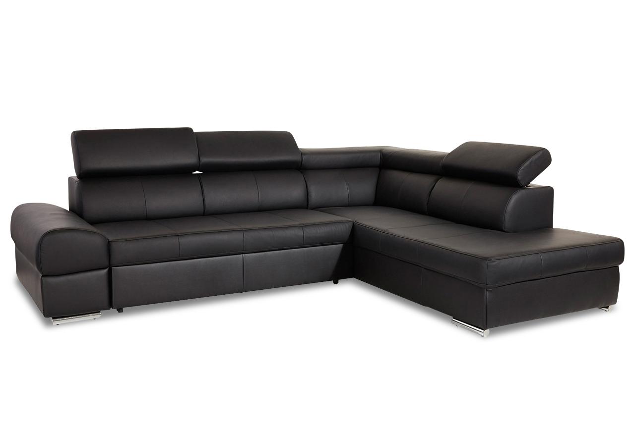 Leder ecksofa xl broadway schwarz sofas zum halben preis for Ecksofa schwarz leder