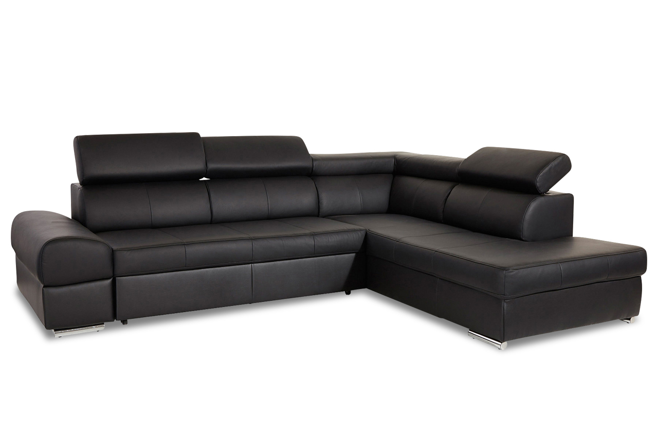 premium leder ecksofa xl runway mit schlaffunktion. Black Bedroom Furniture Sets. Home Design Ideas