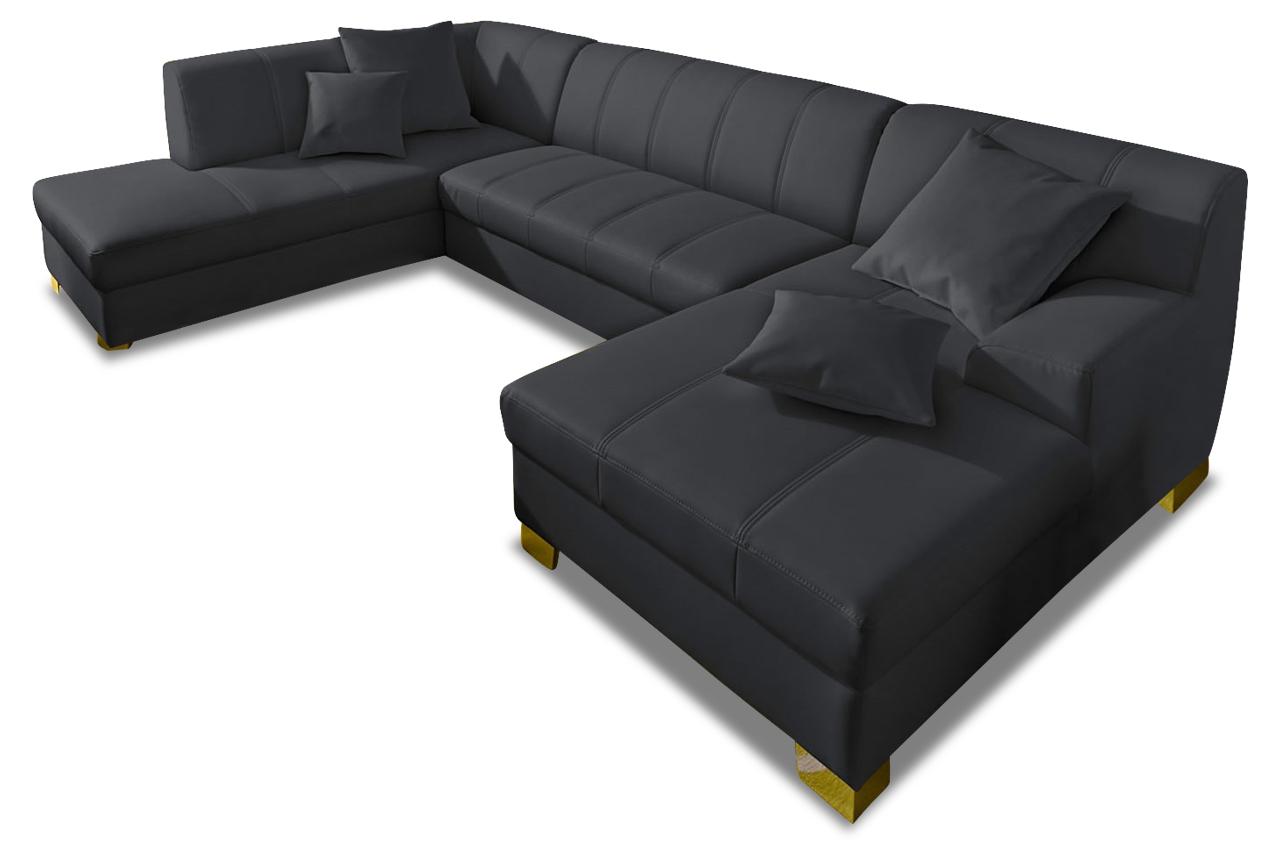 leder wohnlandschaft capri schwarz sofas zum halben preis. Black Bedroom Furniture Sets. Home Design Ideas