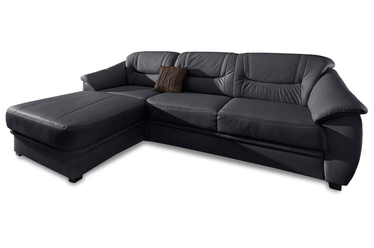 leder ecksofa mit schlaffunktion schwarz mit federkern sofas zum halben preis. Black Bedroom Furniture Sets. Home Design Ideas