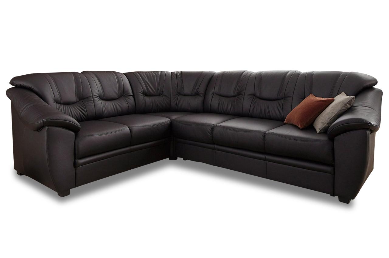 leder rundecke savona schwarz mit federkern sofas zum halben preis. Black Bedroom Furniture Sets. Home Design Ideas