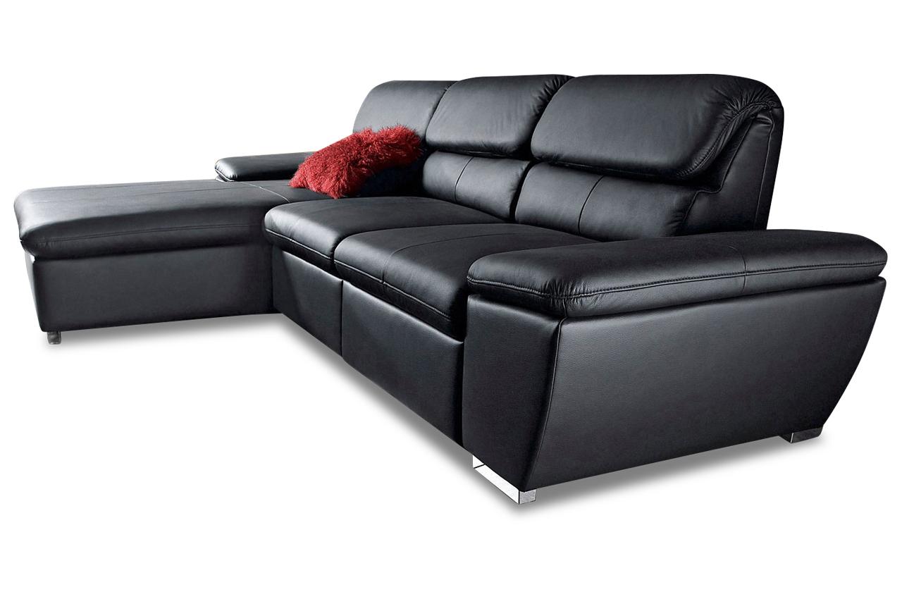 leder ecksofa mit relax schwarz sofas zum halben preis. Black Bedroom Furniture Sets. Home Design Ideas
