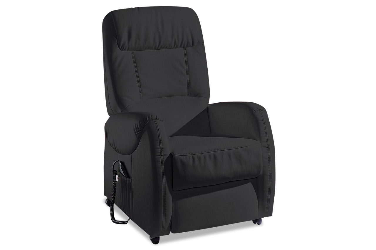 leder fernsehsessel schwarz sofas zum halben preis. Black Bedroom Furniture Sets. Home Design Ideas