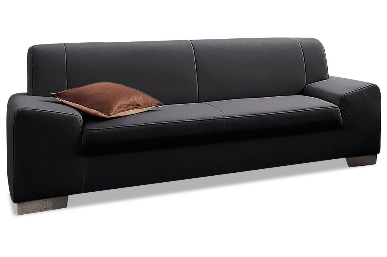 3er sofa alisson schwarz sofas zum halben preis. Black Bedroom Furniture Sets. Home Design Ideas