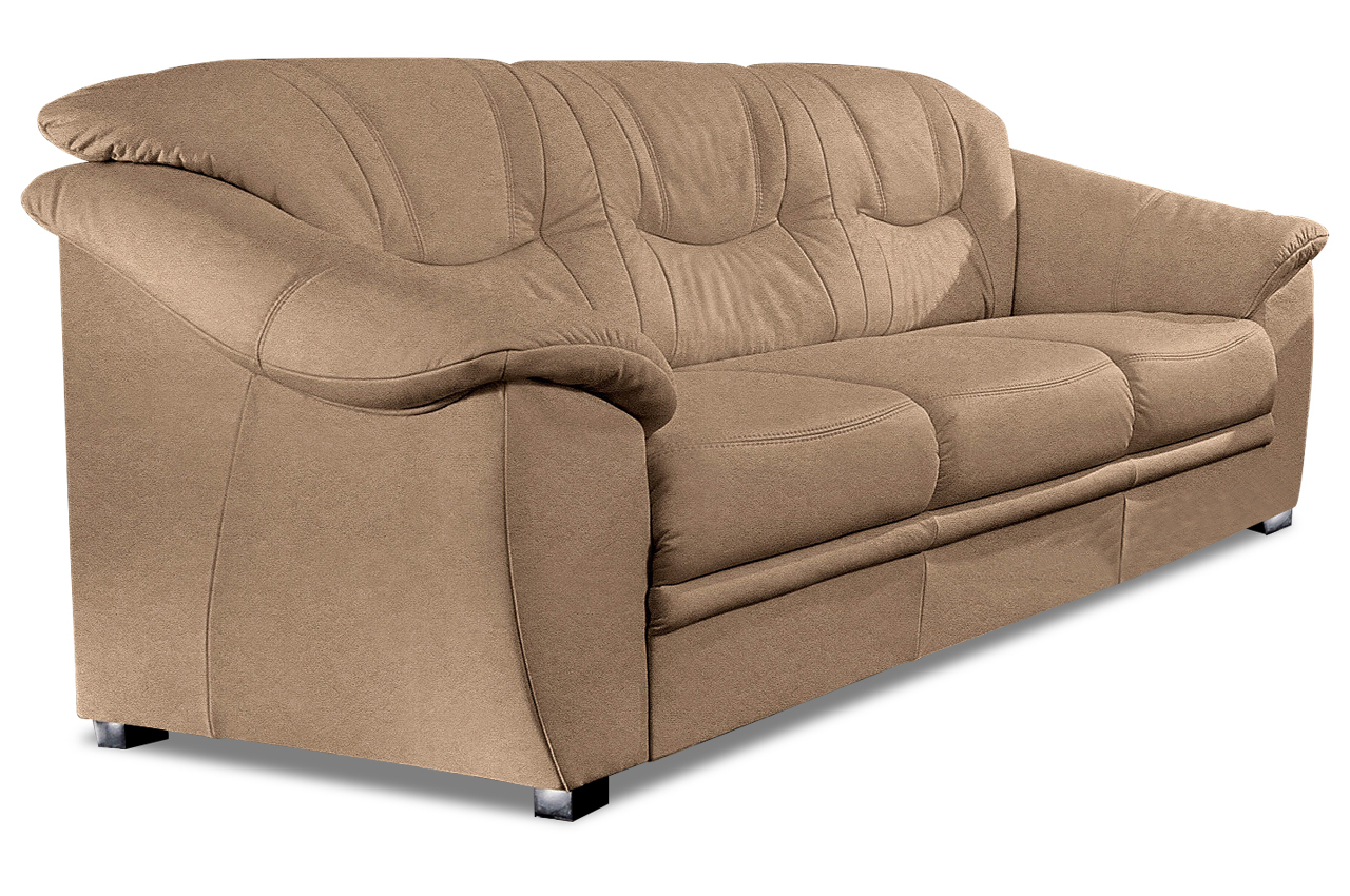 3er sofa braun mit federkern sofas zum halben preis. Black Bedroom Furniture Sets. Home Design Ideas