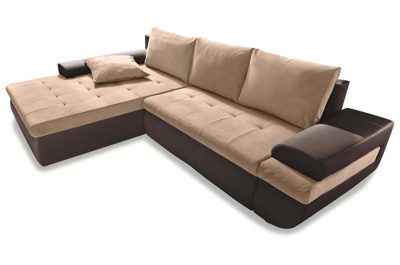 Sit more polsterecke caramba xl mit bett sofas zum for Ecksofa braun mit schlaffunktion