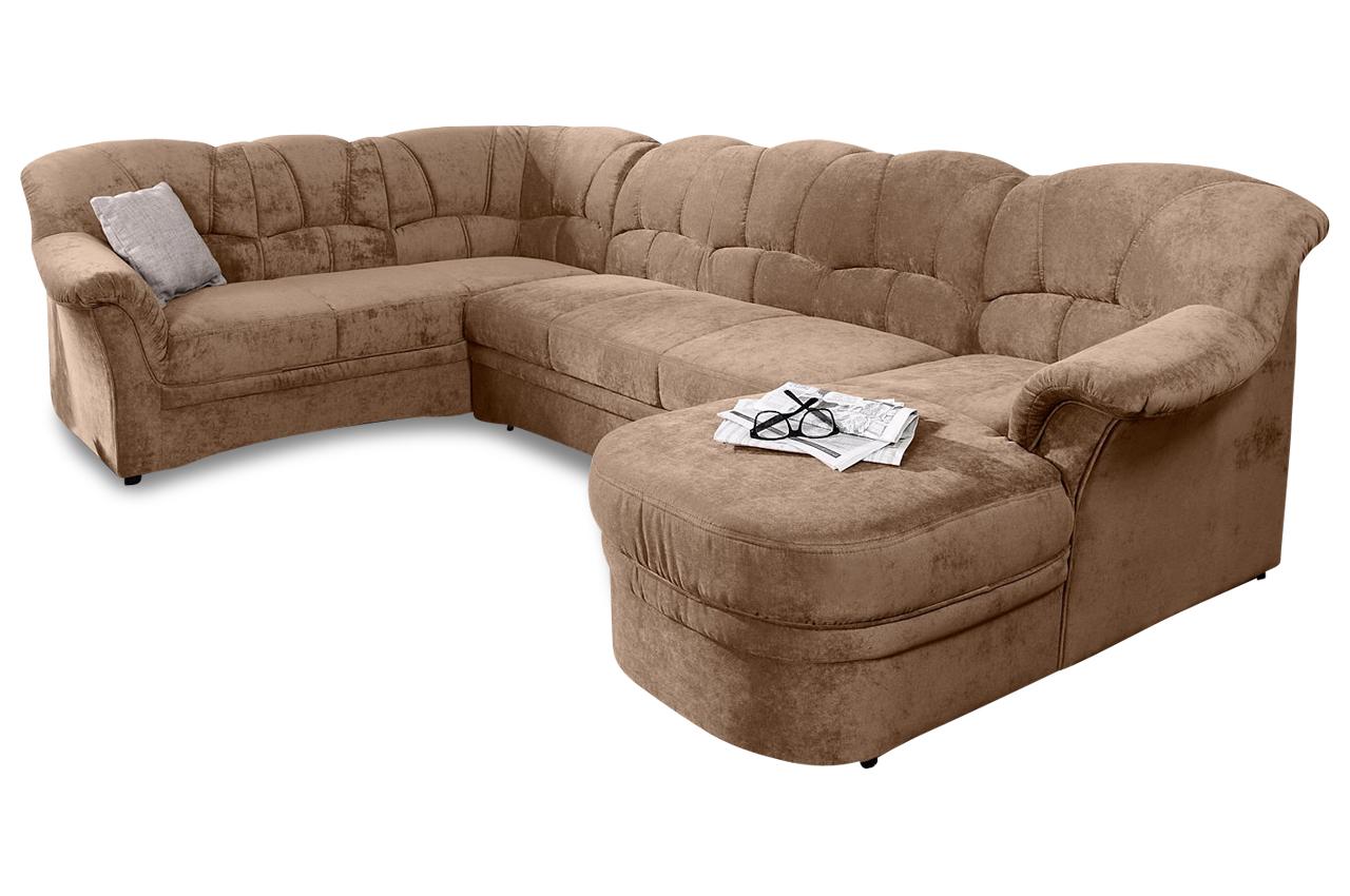 wohnlandschaft kampen braun mit federkern sofas zum. Black Bedroom Furniture Sets. Home Design Ideas