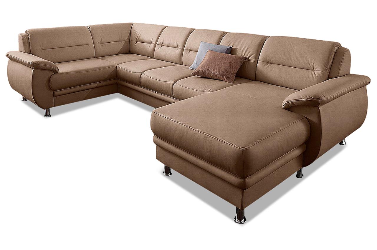 sit more wohnlandschaft mailand mit bett sofas zum. Black Bedroom Furniture Sets. Home Design Ideas