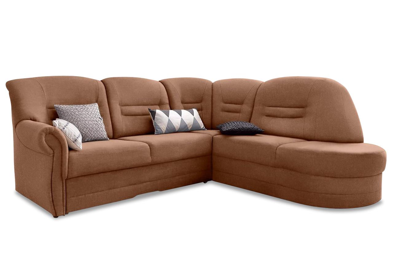 ecksofa landeck braun mit federkern sofas zum halben preis. Black Bedroom Furniture Sets. Home Design Ideas