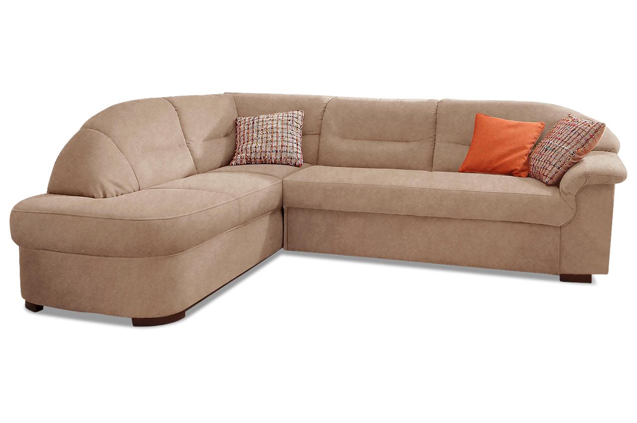 Ecksofa xl malta mit schlaffunktion braun sofas zum for Ecksofa microfaser braun