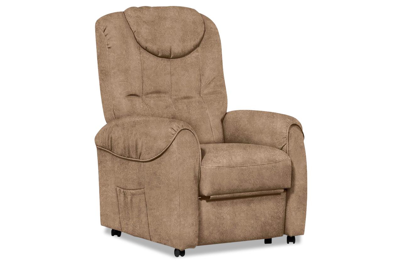 Fernsehsessel mit relax braun sofas zum halben preis for Fernsehsessel braun