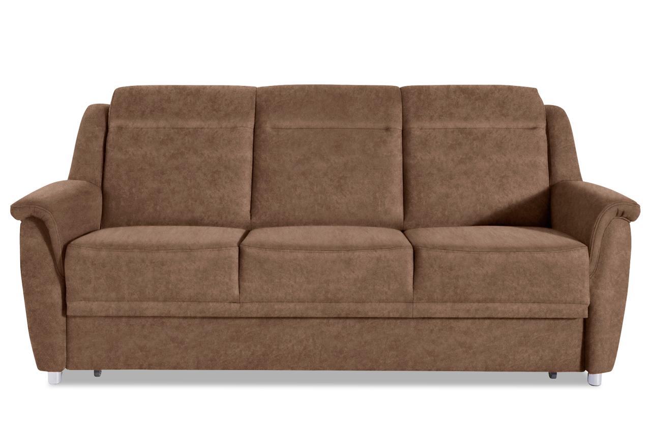 3er sofa mit schlaffunktion braun mit federkern sofas zum halben preis. Black Bedroom Furniture Sets. Home Design Ideas