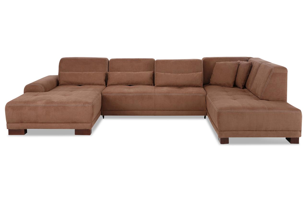 wohnlandschaft mit sitzverstellung braun sofas zum
