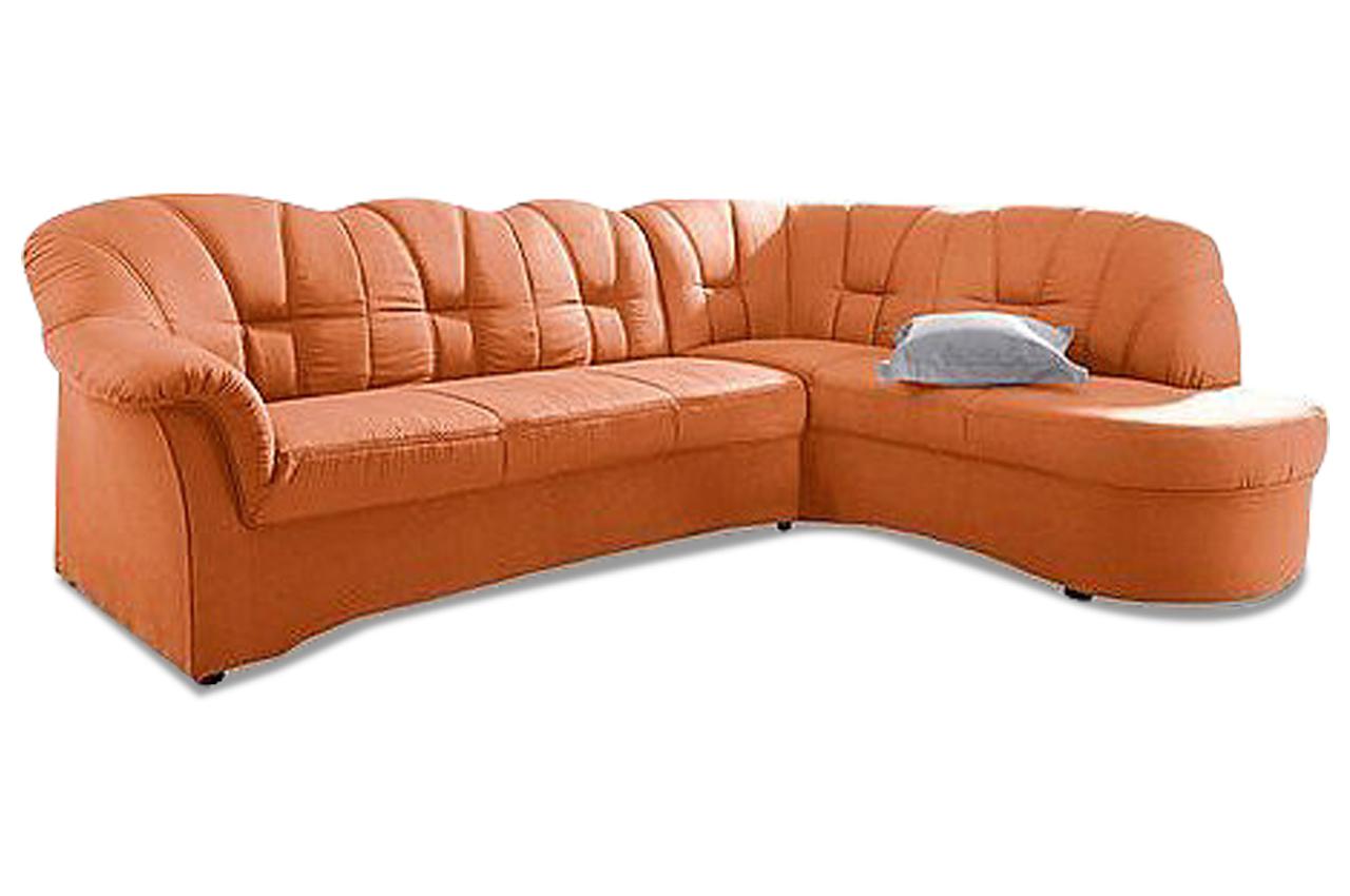 ecksofa xl papenburg o mit schlaffunktion orange. Black Bedroom Furniture Sets. Home Design Ideas
