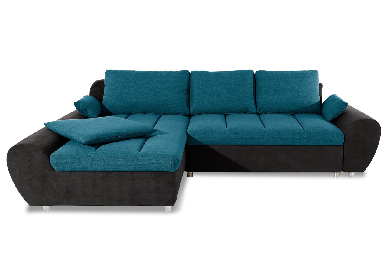 Sit more ecksofa bandos xxl blau sofas zum halben preis for Xxl sessel blau