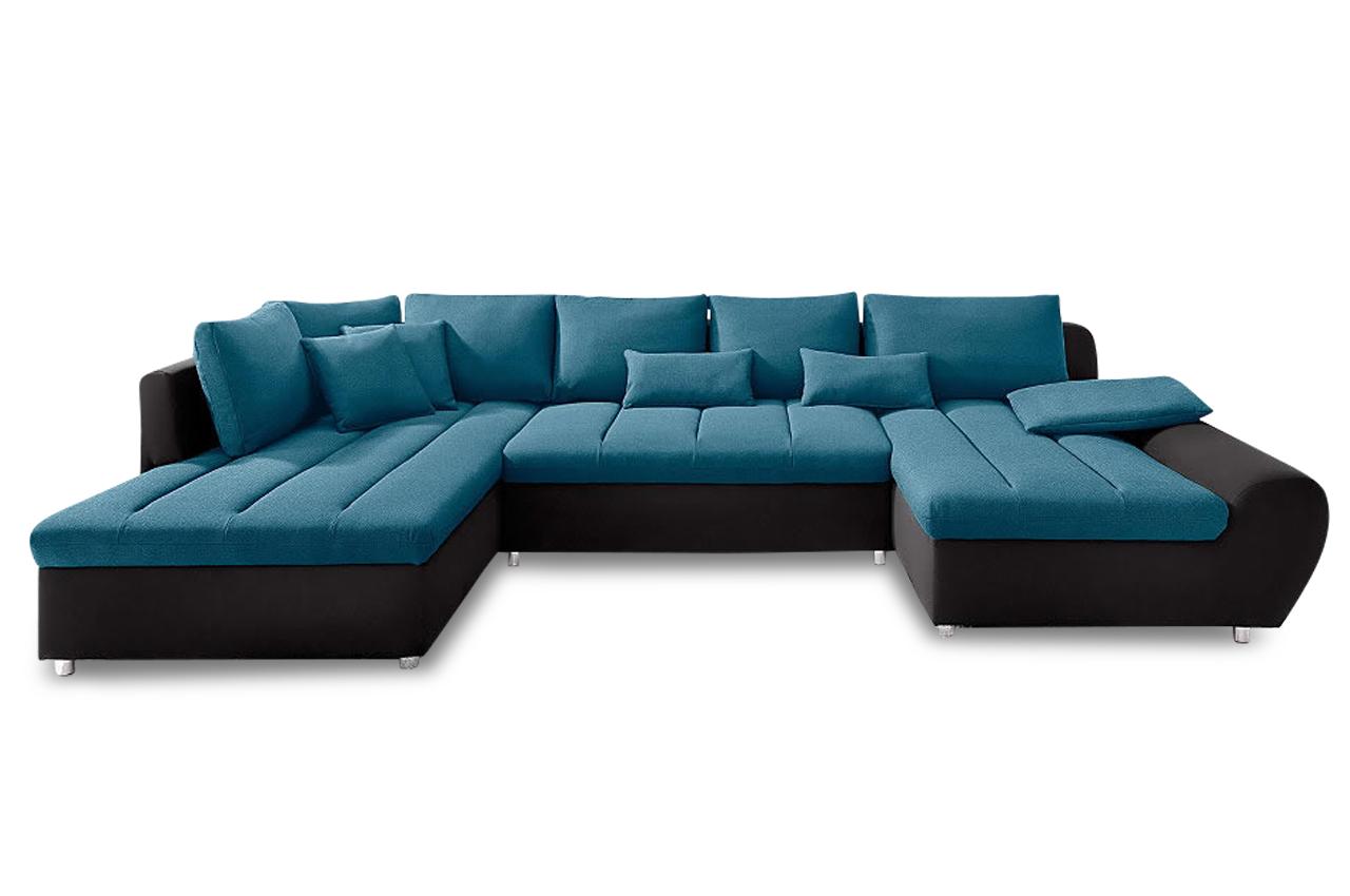 Sit more wohnlandschaft bandos xl blau sofas zum for Wohnlandschaft blau