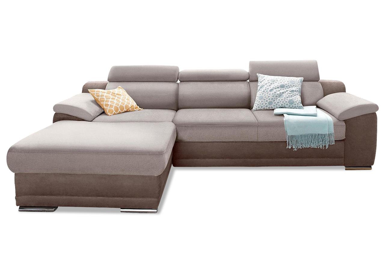 Ecksofa braun sofas zum halben preis for Schlafsofa xenia