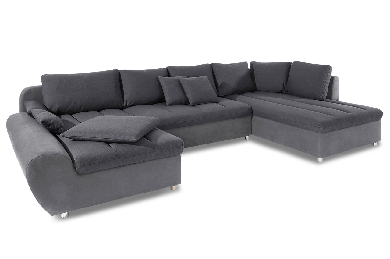 sit more wohnlandschaft bandos xxl mit schlaffunktion grau sofas zum halben preis. Black Bedroom Furniture Sets. Home Design Ideas
