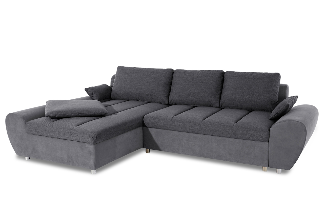 sit more ecksofa bandos xl mit schlaffunktion grau sofas zum halben preis. Black Bedroom Furniture Sets. Home Design Ideas