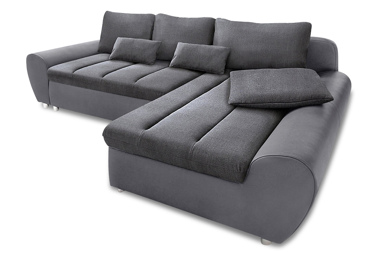 Sit more ecksofa bandos xxl grau sofas zum halben preis for Ecksofa microfaser grau