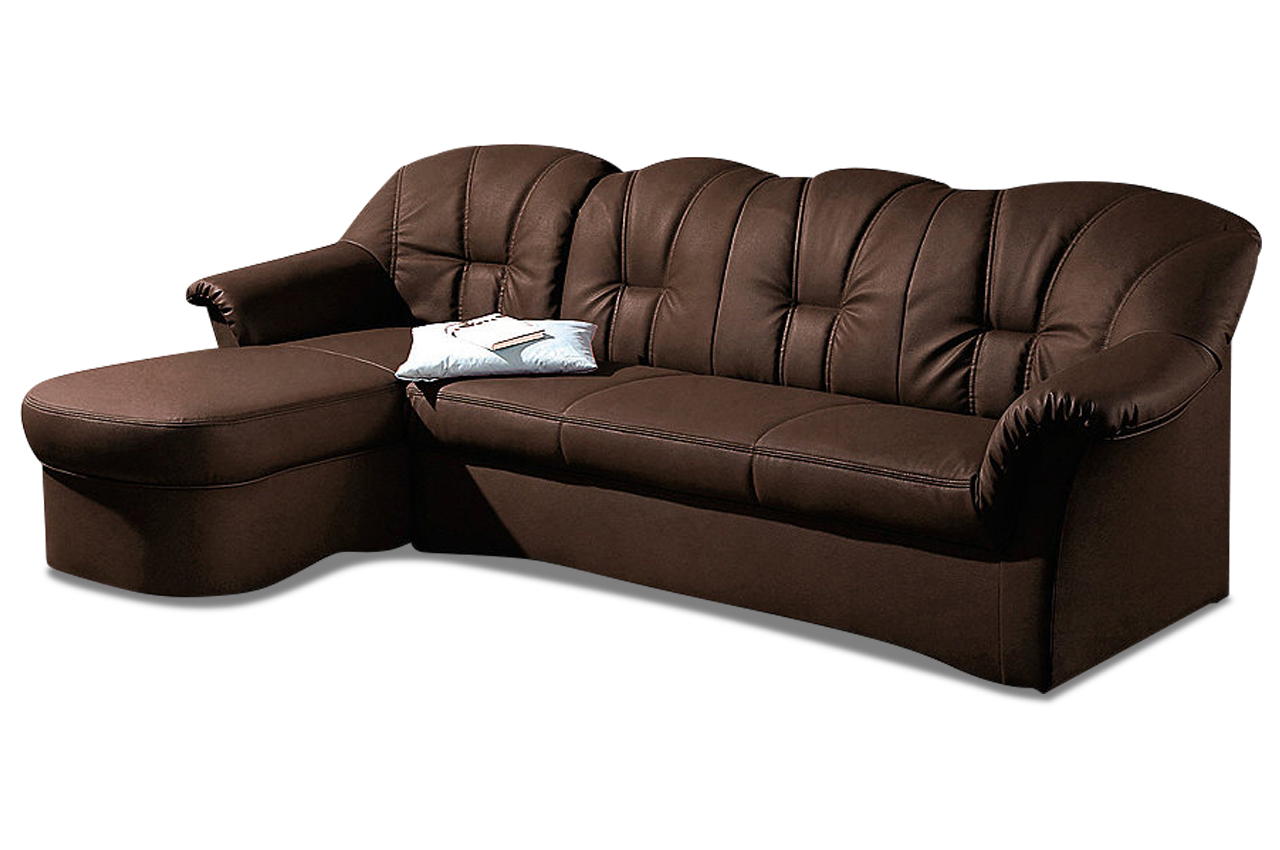 Ecksofa papenburg braun sofas zum halben preis for Ecksofa microfaser braun