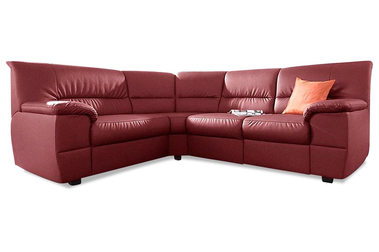 sit more rundecke centro mit relax rot mit federkern kunstleder sofa couc. Black Bedroom Furniture Sets. Home Design Ideas