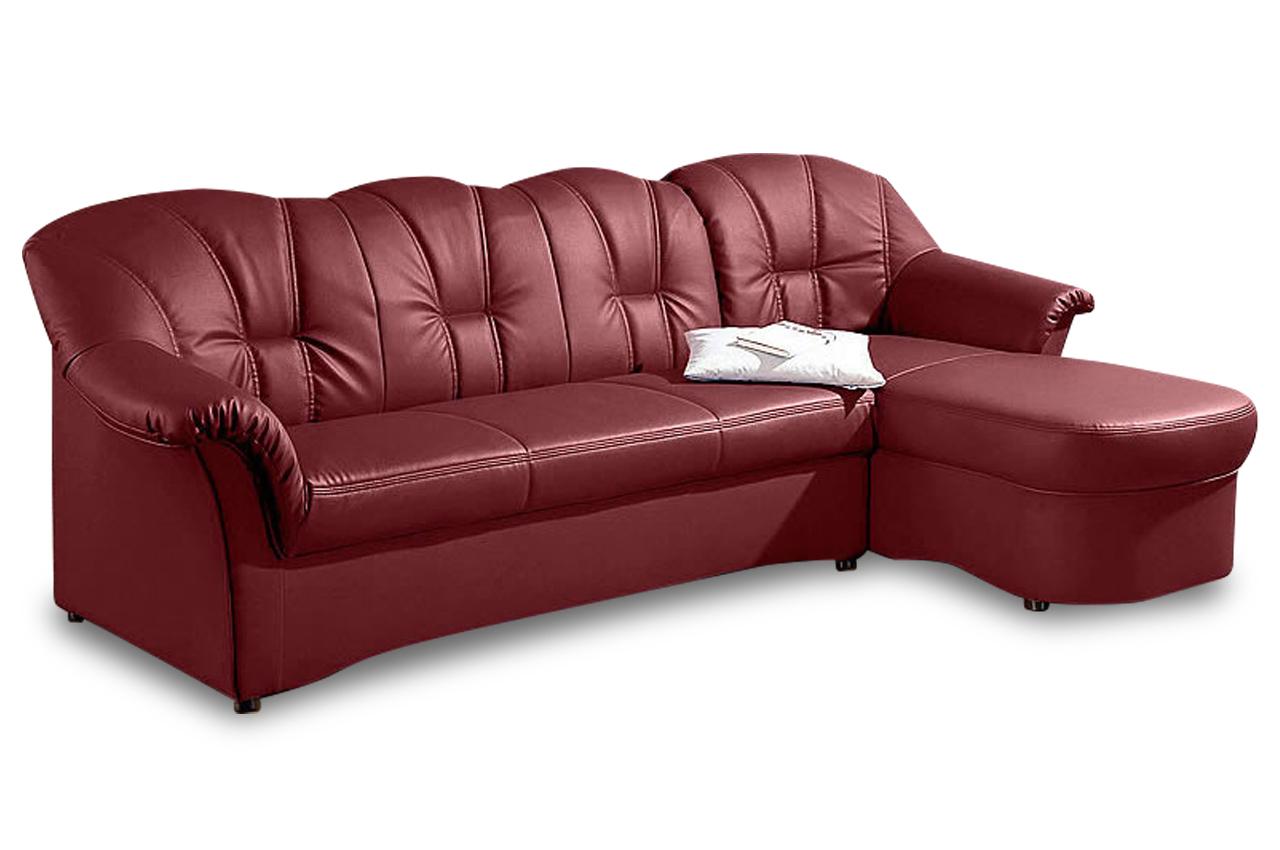 ecksofa papenburg mit schlaffunktion rot sofa couch ecksofa ebay. Black Bedroom Furniture Sets. Home Design Ideas