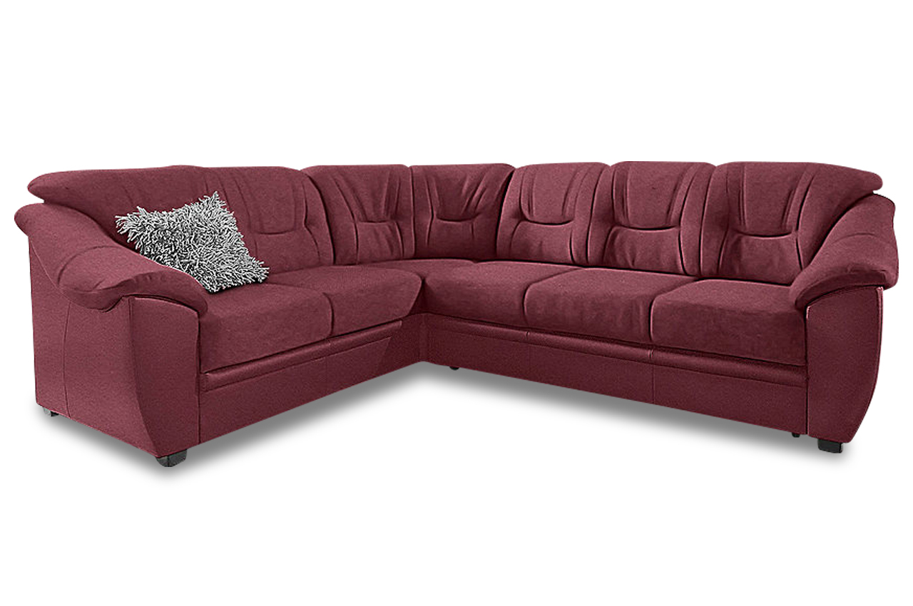 rundecke savona rot mit federkern sofa couch ecksofa. Black Bedroom Furniture Sets. Home Design Ideas