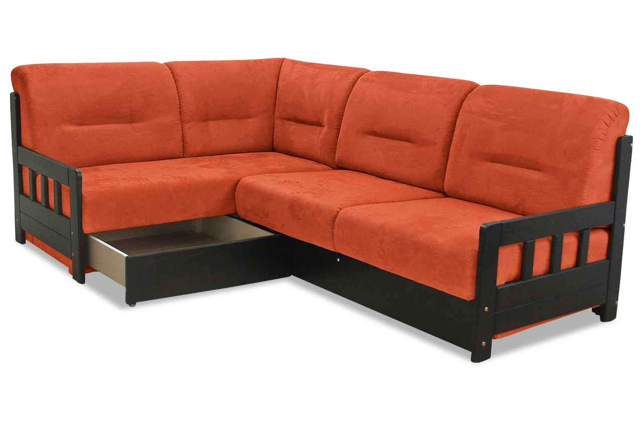 ecksofa xl campus mit schlaffunktion orange mit federkern sofa couch ecks ebay. Black Bedroom Furniture Sets. Home Design Ideas
