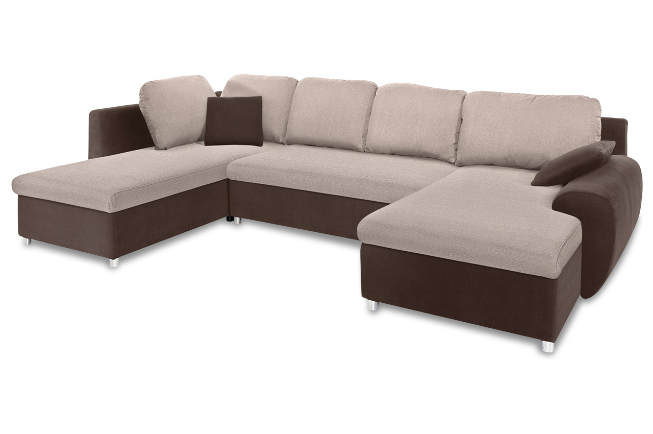 Sit more wohnlandschaft desperado mit bett stoff sofa for Sofa bett kombination