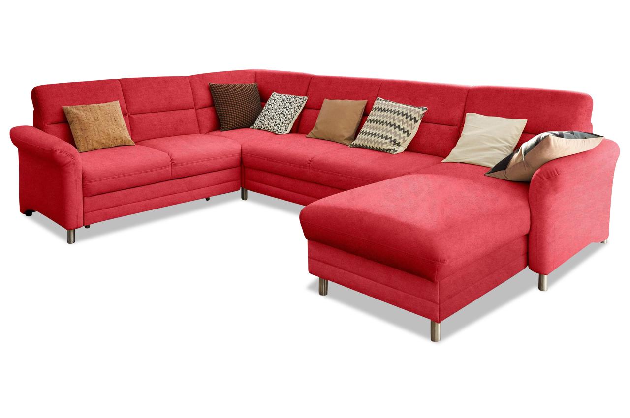sofa team wohnlandschaft viola links rot sofas zum halben preis