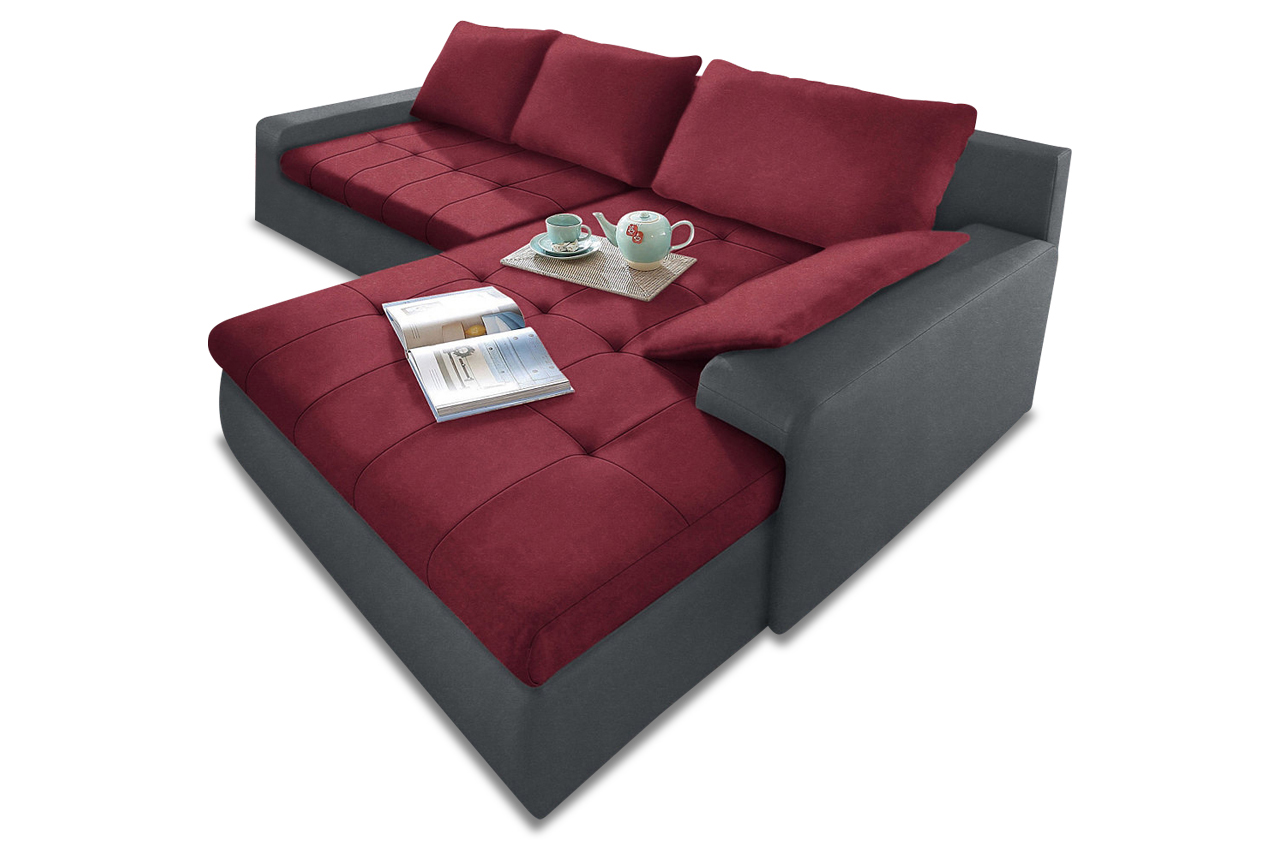 Ecksofa candy xl mit schlaffunktion rot sofa couch for Ecksofa candy