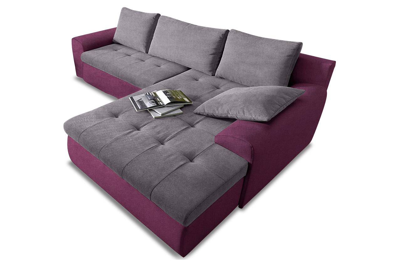 ecksofa cecile xxl mit schlaffunktion anthrazit. Black Bedroom Furniture Sets. Home Design Ideas