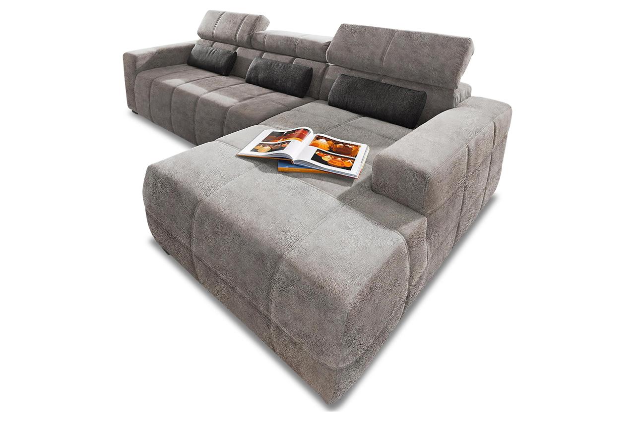 ecksofa brandon mit sitzverstellung grau sofas zum halben preis. Black Bedroom Furniture Sets. Home Design Ideas