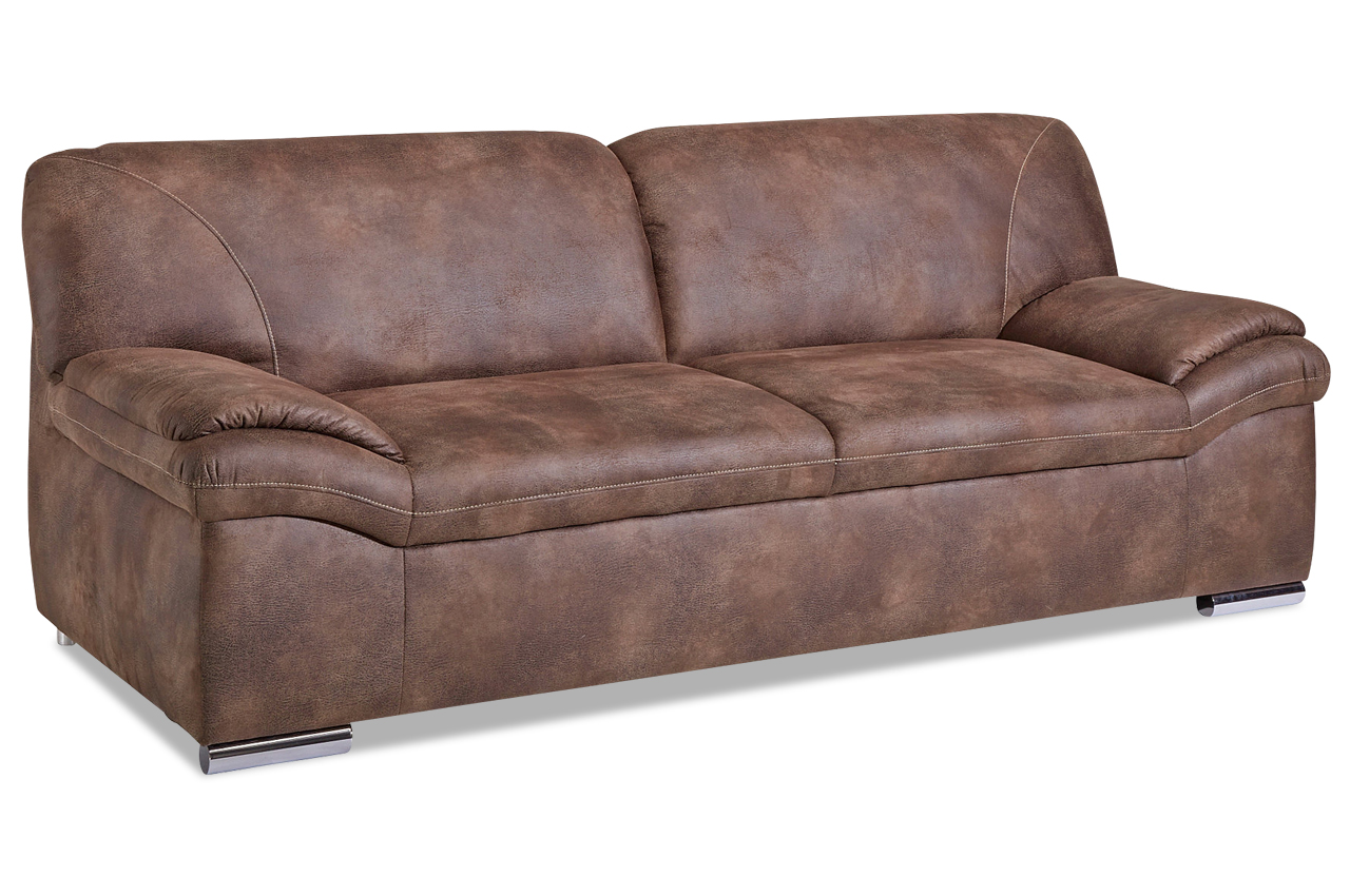 3er sofa alfred braun sofas zum halben preis. Black Bedroom Furniture Sets. Home Design Ideas