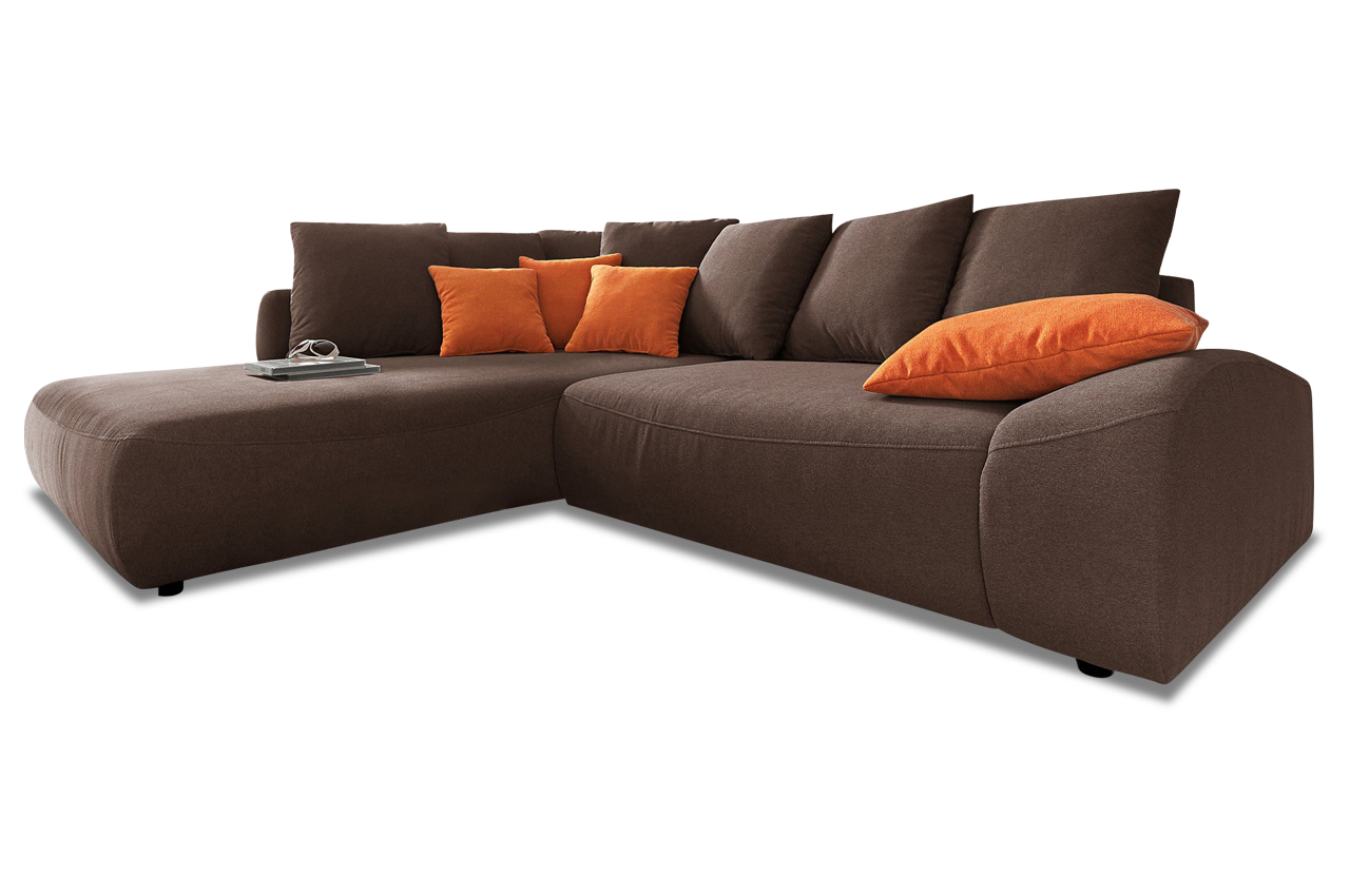 nova via ecksofa xl daytona mit schlaffunktion braun sofa couch ecksofa ebay. Black Bedroom Furniture Sets. Home Design Ideas