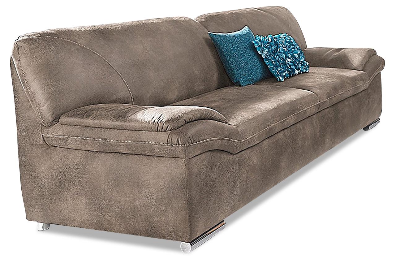 3er sofa alfred braun sofa couch ecksofa ebay. Black Bedroom Furniture Sets. Home Design Ideas