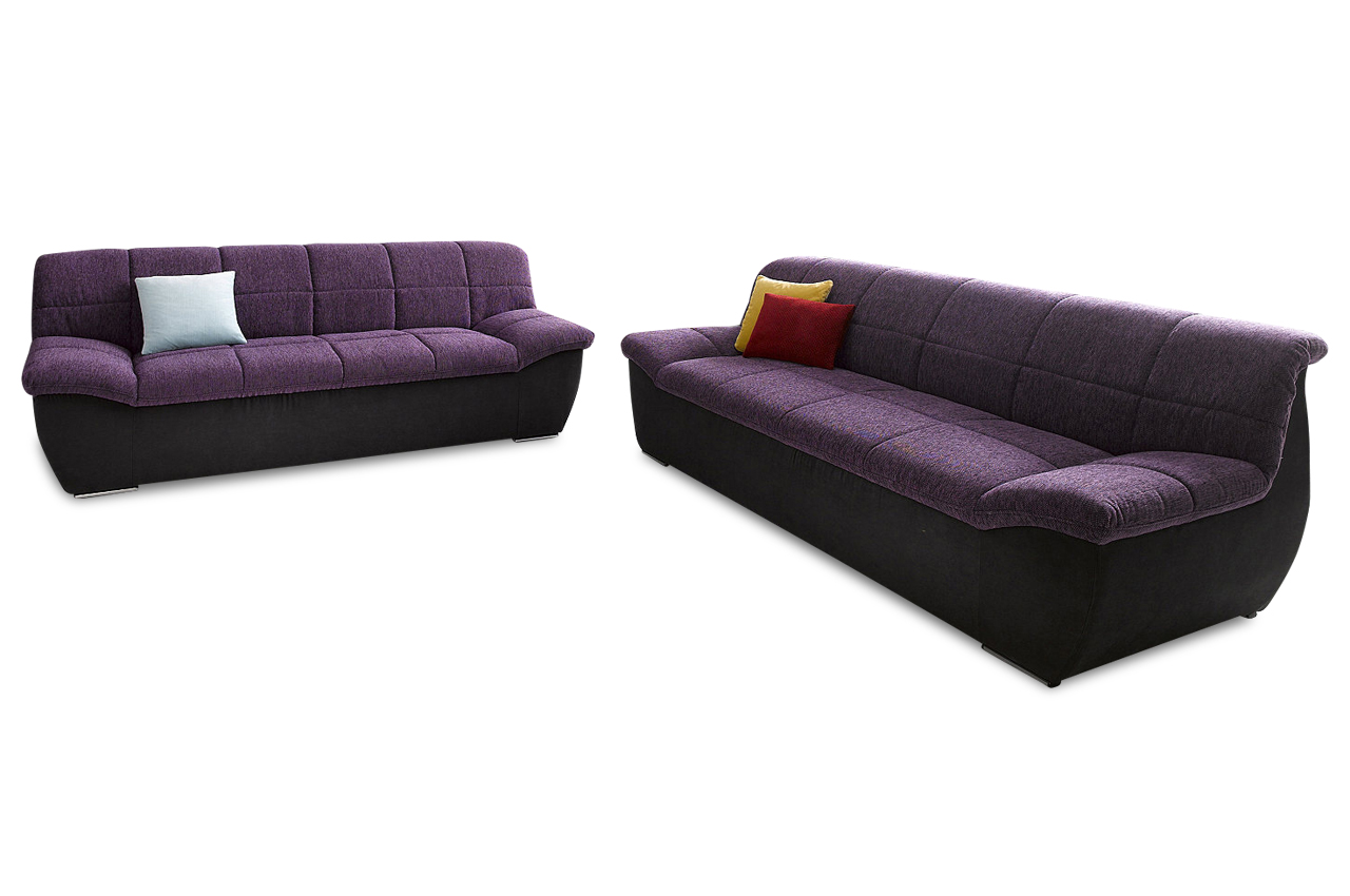 Sofa couch ecksofa garnitur 3er 2er splash luxus for Ecksofa garnitur