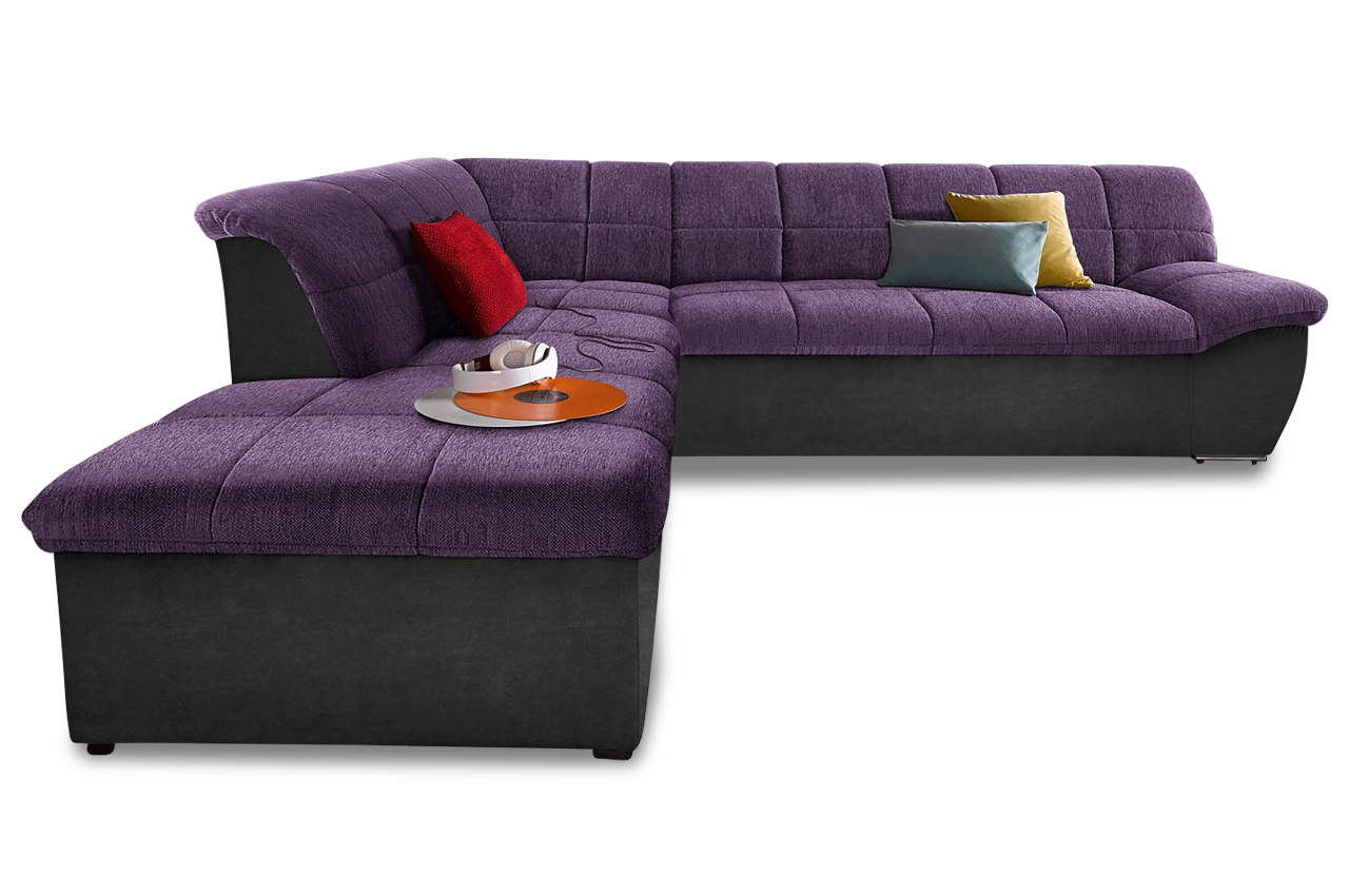 Megaecke splash mit bett stoff sofa couch ecksofa ebay for Sofa bett kombination