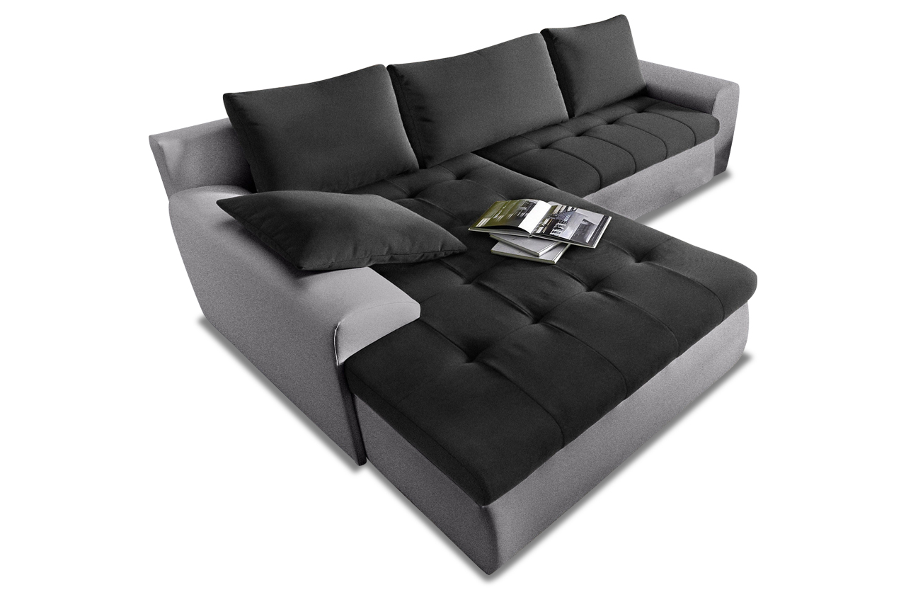 ecksofa mit schlaffunktion schwarz sofas zum halben. Black Bedroom Furniture Sets. Home Design Ideas