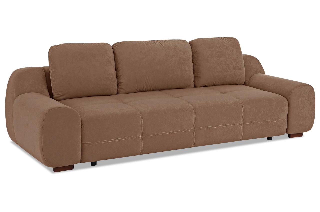 3er Sofa Mit Schlaffunktion Braun Sofas Zum Halben Preis