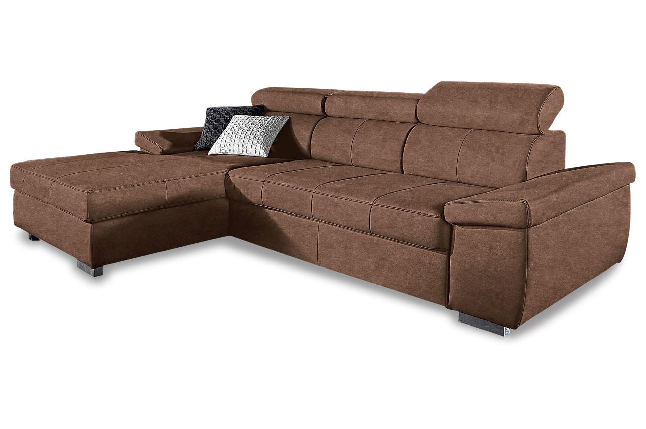 Ecksofa catwalk braun sofas zum halben preis for Braunes ecksofa