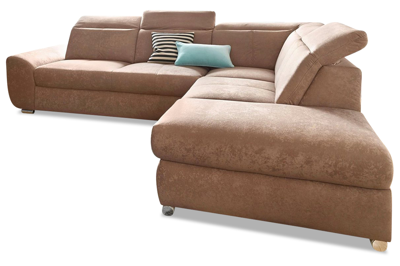 ecksofa xl blues braun sofa couch ecksofa ebay. Black Bedroom Furniture Sets. Home Design Ideas