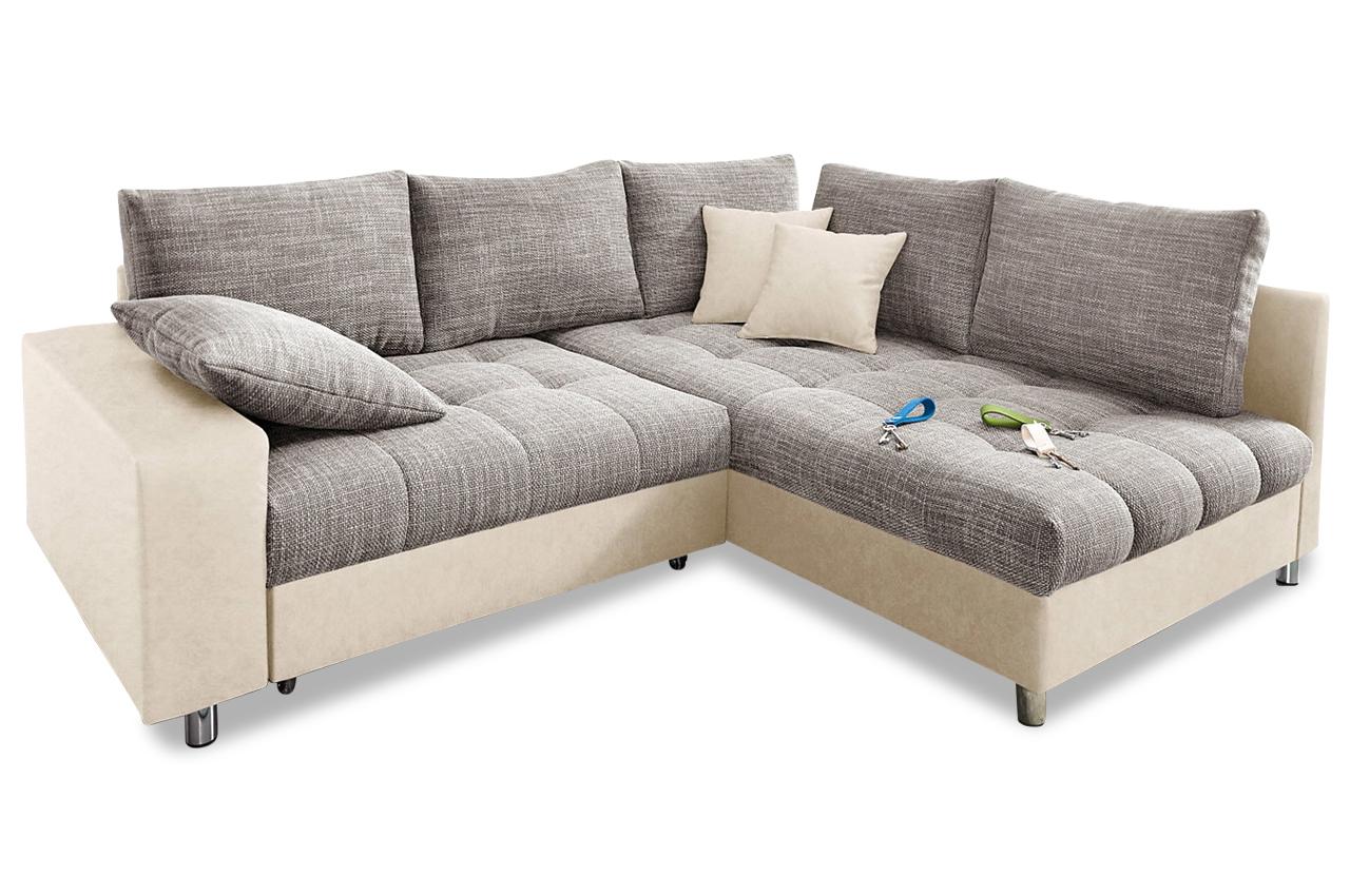 Nova via ecksofa xl tobi grau sofas zum halben preis for Ecksofa 400